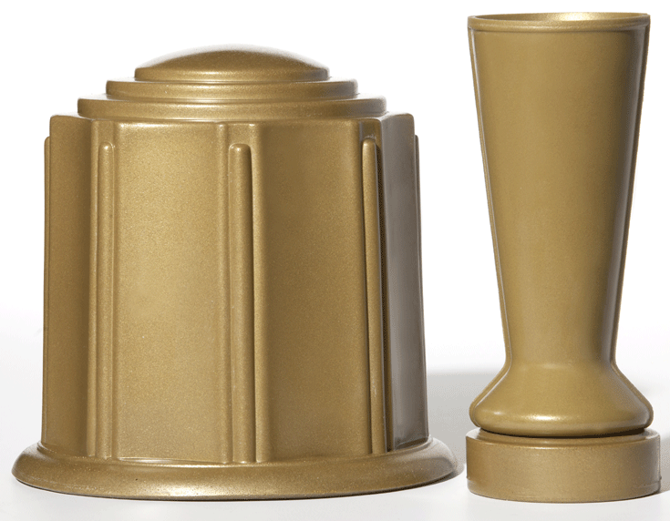 ForeverSafe™ Bronze Cremation Burial Urn Cemetery Vase