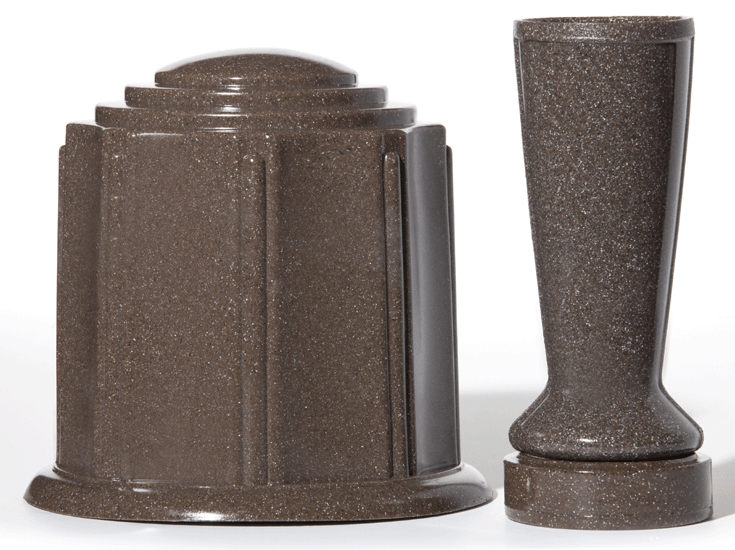 Brown Granite Urn & Vase Canister Set