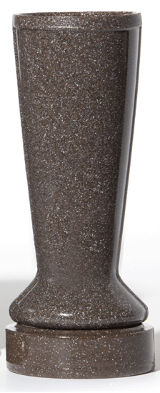 ForeverSafe™ Brown Granite Cemetery Vase