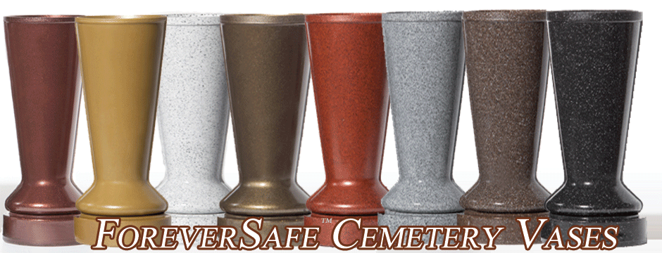 ForeverSafe Cemetery Vases, Replacement Cemetery Vases Theft Deterrent Cemetery Vases