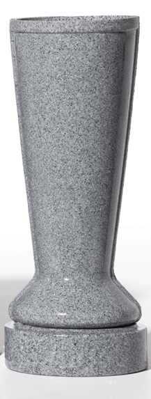 ForeverSafe™ Grey Granite Cemetery Vase