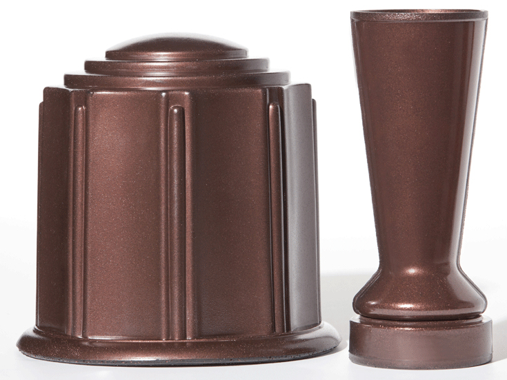 Mahogany Urn & Vase Set by ForeverSafe™